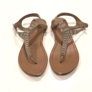 Soda Jeweled Sandals 10